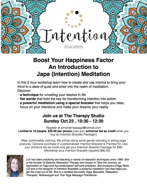 Japa meditation workshop