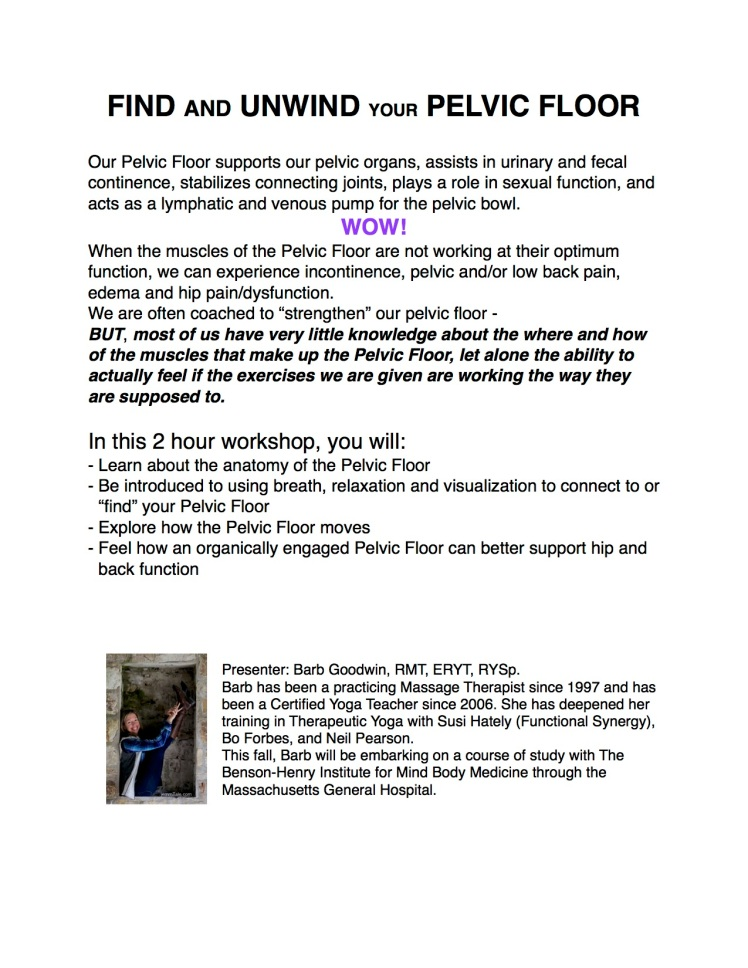 Pelvic Floor workshop flyer