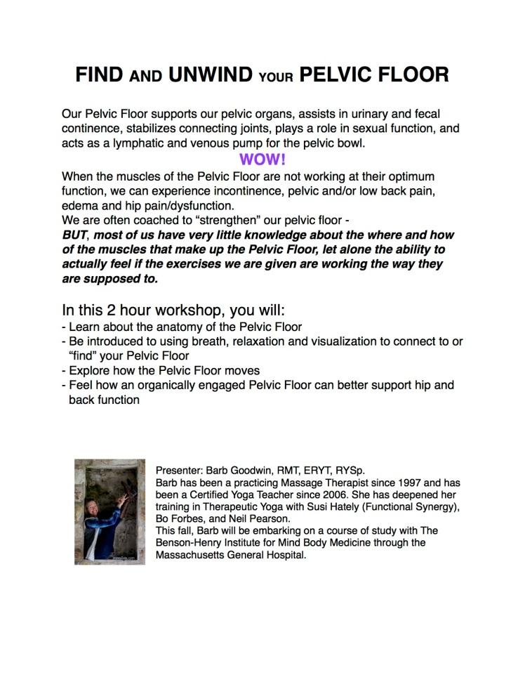 Pelvic Floor workshop flyer